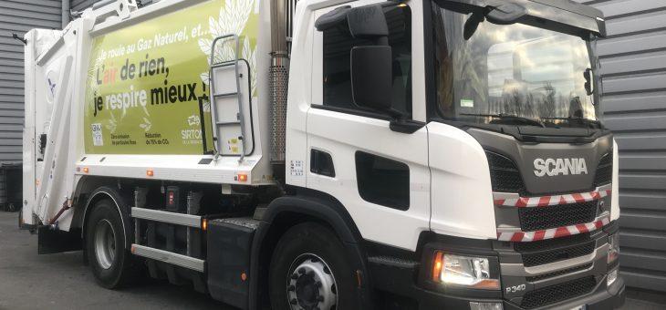 Collecte des déchets au gaz