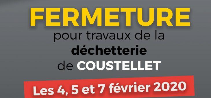 Fermeture pour travaux de la Déchetterie de Coustellet