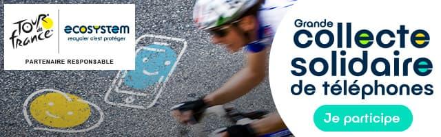 Collecte solidaire de téléphones portables à l'occasion du Tour de France